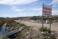 Sucios accesos a Lorquí (Murcia)