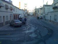 Calles peligrosas en Mercado de Orihuela (Alicante)