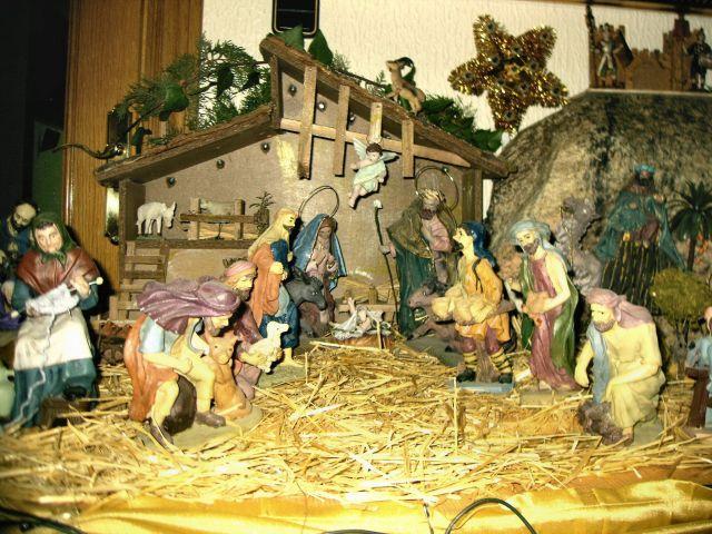 Vista del Nacimiento de Jesus en el pesebre.