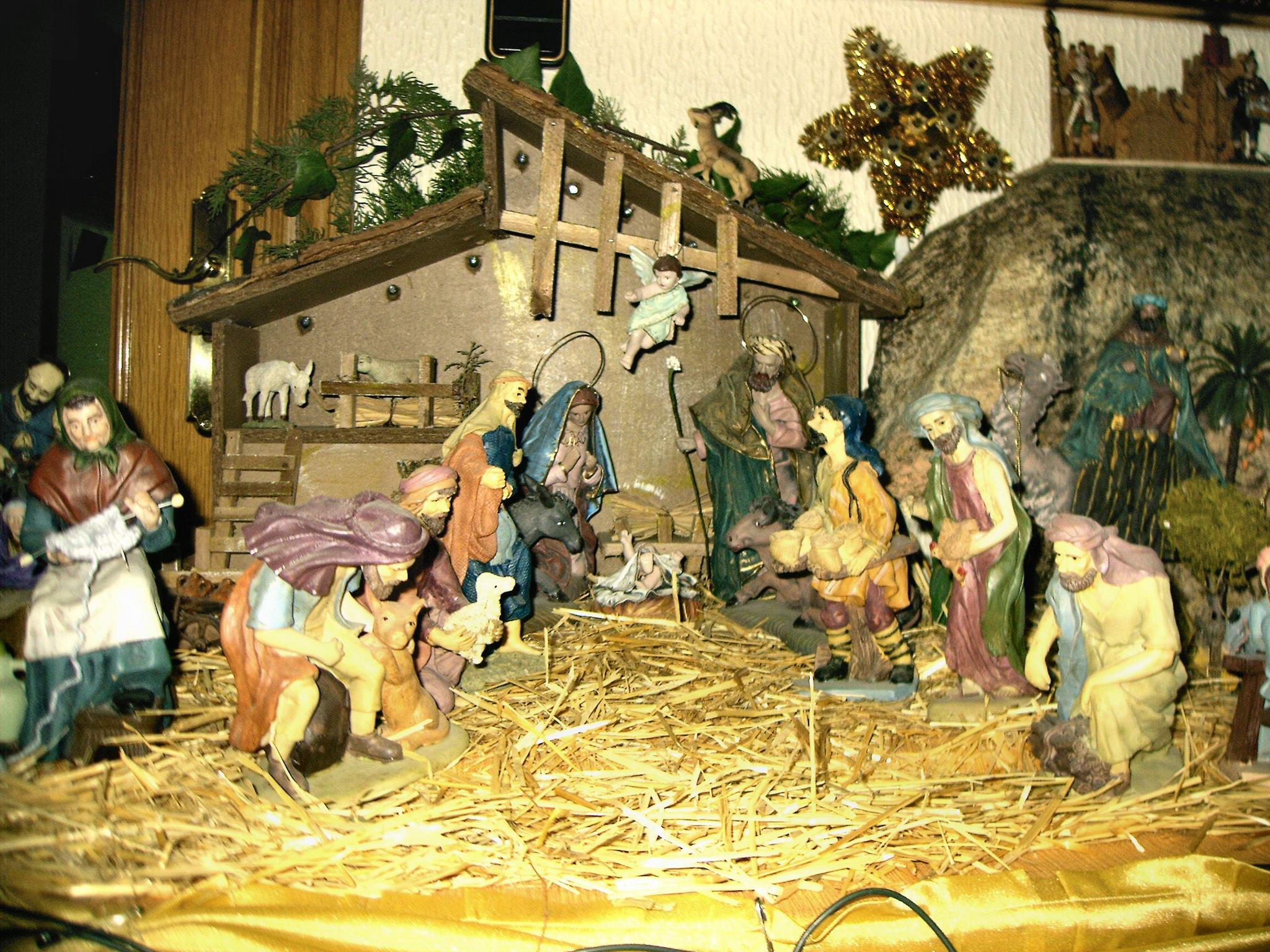 Vista del nacimiento de jesus en el pesebre fotos de for Nacimiento belen