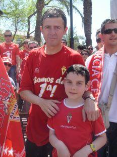 Javier con Lucas Alcaraz