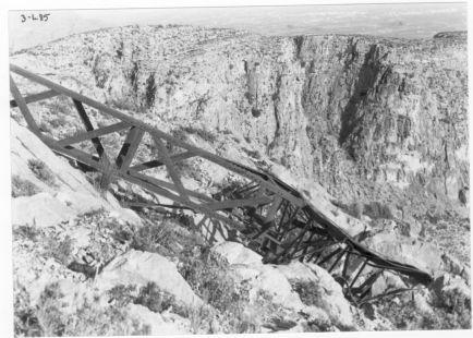 Cruz de La Muela derribada 3-1-85