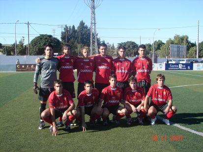 Equipo Juvenil de Division de Honor del Real Murcia 2007-2008
