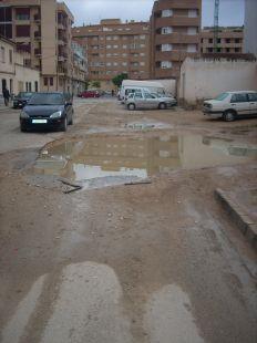 Barrizal en la Calle Reus (Albacete)