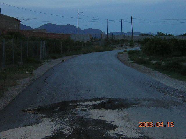 Camino de la huerta hundido por los camiones el - Viveros murcia el esparragal ...