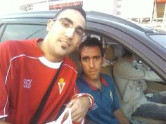 Juan.E y Abel tras el partido empatado con el Betis.