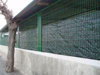 Tapan con plástico el recinto para que no veamos como están los animales