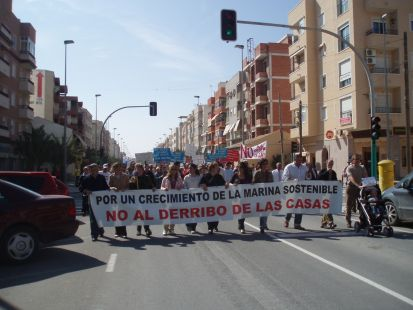 Manifestacion contra el Plan Urbanístico abusivo del Ayuntamiento de Elche