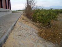 Grave peligro por falta de valla en el recién inaugurado Polideportivo de Zeneta