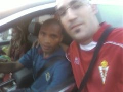 Juan Emilio y Regueiro tras el partido ante el Betis