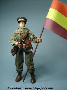 Madelman custom Teniente del Ejército Popular Batalla del Ebro
