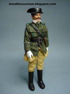 Madelman custom Teniente en uniforme de servicio de campaña