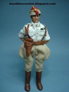 Madelman Custom Alferez provisional en uniforme de cuartel de las Tropas Regulares de Marruecos