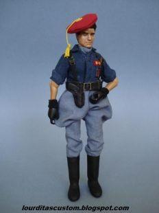 Madelman Custom Teniente de Milicias de Falange Española