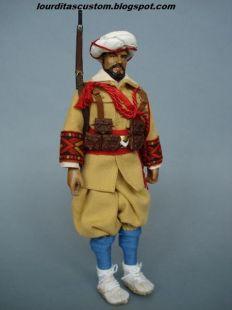 Madelman Custom Gastador en uniforme de parada de las Tropas Regulares de Marrruecos