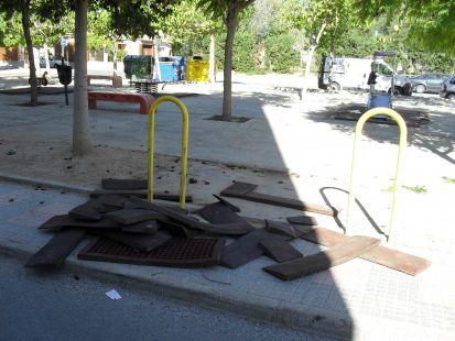 Vandalismo en el parque Nueva Cartagena