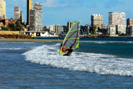 Deporte con viento