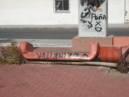 Vandalismo en el parque Carmen Conde