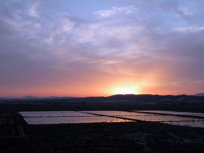 Anochecer en El Saladar