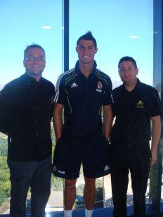 El chef de 'Los Periquitos' con Cristiano Ronaldo