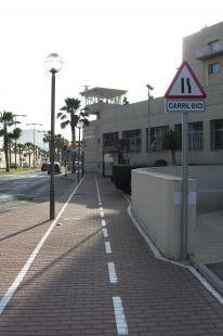 Carril-bici Cartagena: ejemplo