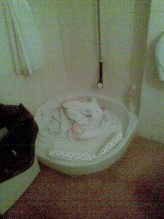 As� es la higiene en los WC del hospital Rafael M�ndez