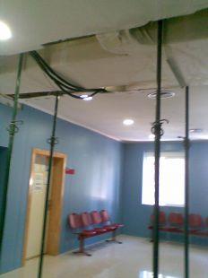 Aspecto del Centro de  Salud Sur de Águilas desde las lluvias de agosto de 2010