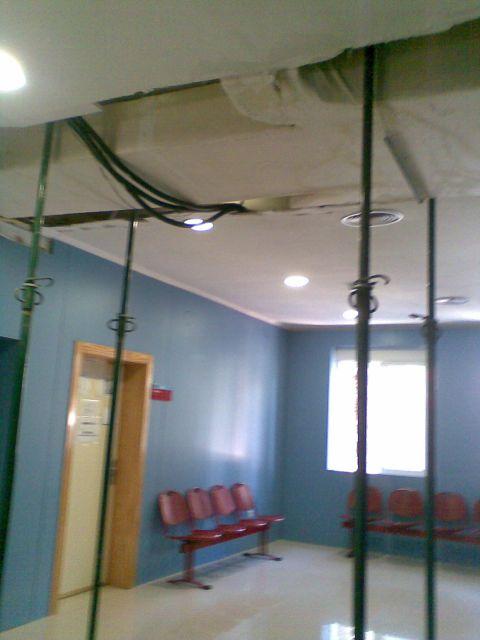 Aspecto del Centro de  Salud Sur de �guilas desde las lluvias de agosto de 2010