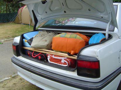 Tetris en el maletero
