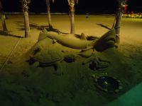 Obras de arte en la playa de Calpe
