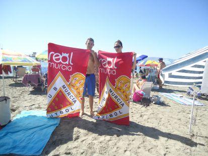 Con el Real Murcia en la Playa