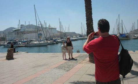 Disfrutando del puerto de Cartagena