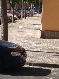 Suciedad brutal en las calles