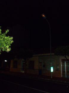 Farola rota en Sangonera la Verde