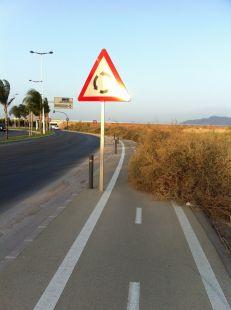Carril bici de la circunvalaci�n de Sangonera