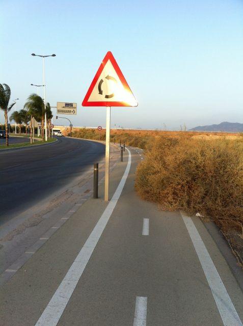 Carril bici de la circunvalación de Sangonera