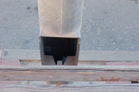 Peligro de electrocutaci�n en la plaza Cuatro Santos