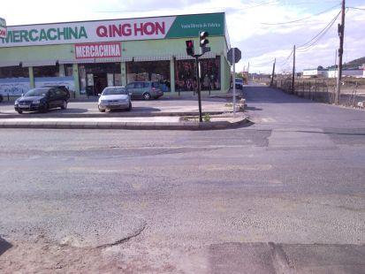 Paso de peatones borrado en El Esparragal