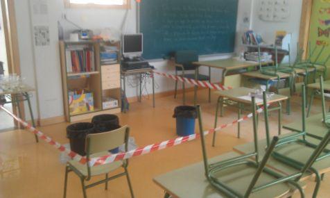 Goteras en el CEIP Escuelas Nuevas (El Palmar)