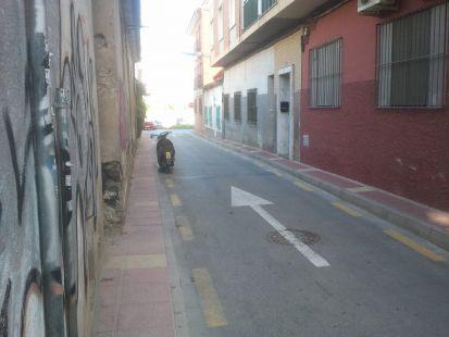 Sin aceras en Espinardo