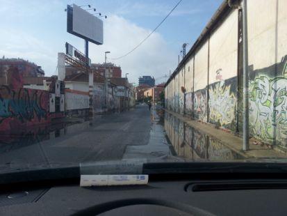 Estado lamentable del carril de la Condesa (Ronda Sur)