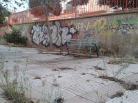 Abandono del parque que hay junto al colegio de Los Barreros