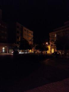 Parque totalmente a oscuras en Los Barreros