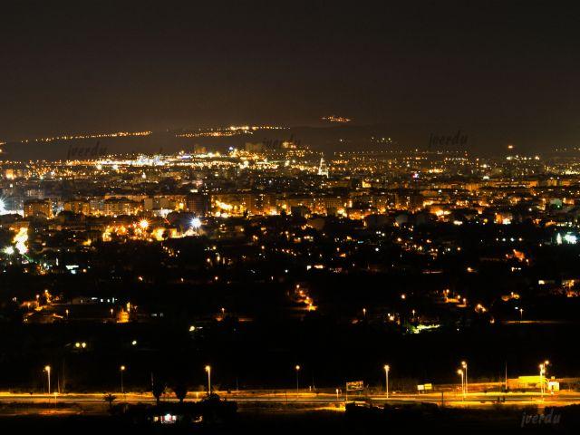 Panorámica nocturna de Murcia